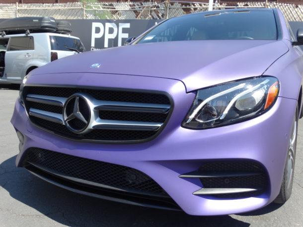 Matte metallic purple mercedes Benz