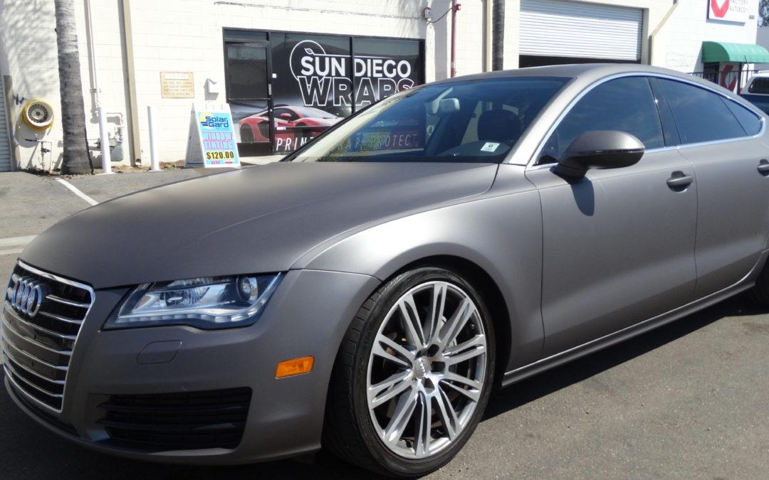 Audi A7 (Matte Dark grey)